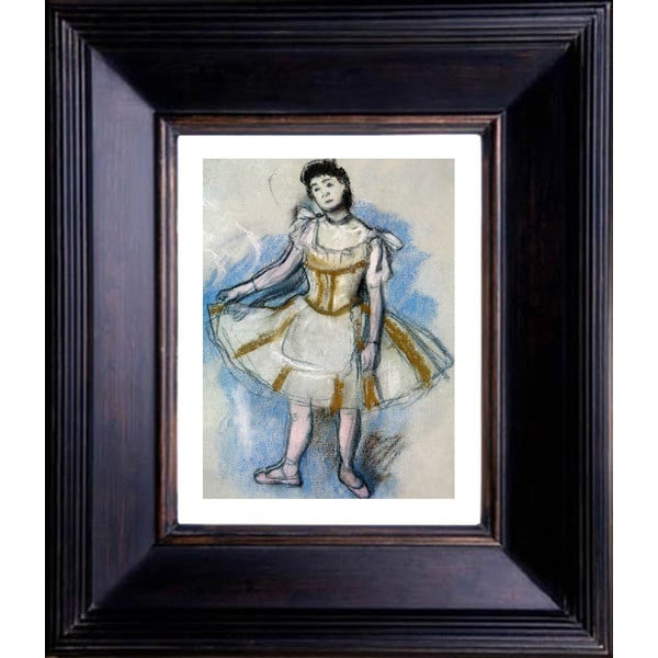 "Edgar Degas ""Dancer in Striped Yellow Dress"" Giclee Framed"