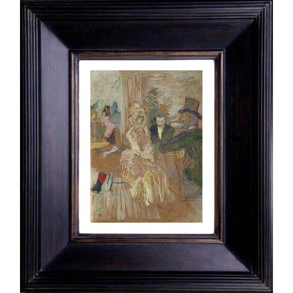 Henri de Toulouse Lautrec 'Au bal masque de L'elise Montmartre' Giclee Framed Art