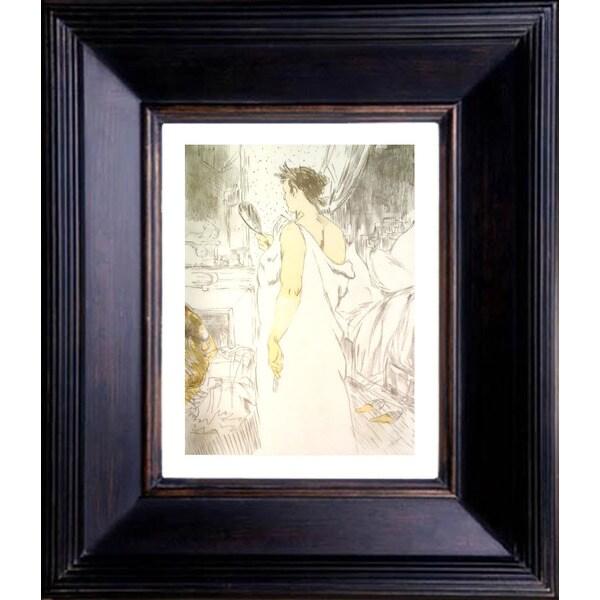 Henri de Toulouse Lautrec 'Devant le miroir' Giclee Framed Art