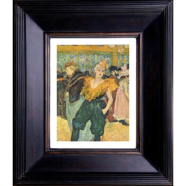 Henri de Toulouse Lautrec 'The clowness at the moulin rouge' Giclee Framed Art