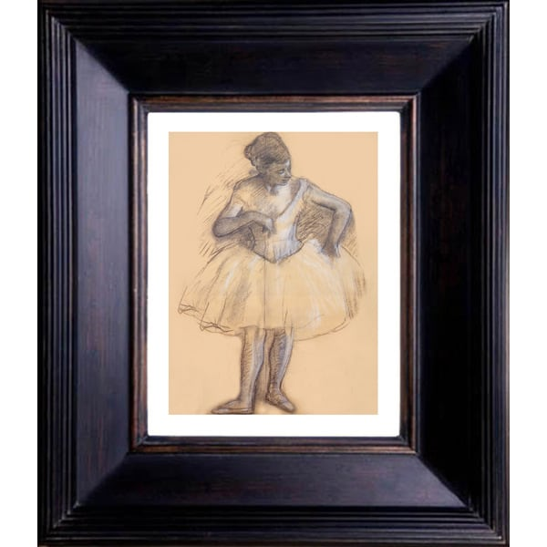 Edgar Degas 'Study for a Ballerina' Giclee Framed