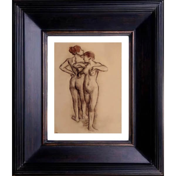 Edgar Degas 'Two Nude Dancers' Giclee Framed