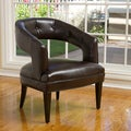 Christopher Knight Home Simone Brown Leather Accent Chair