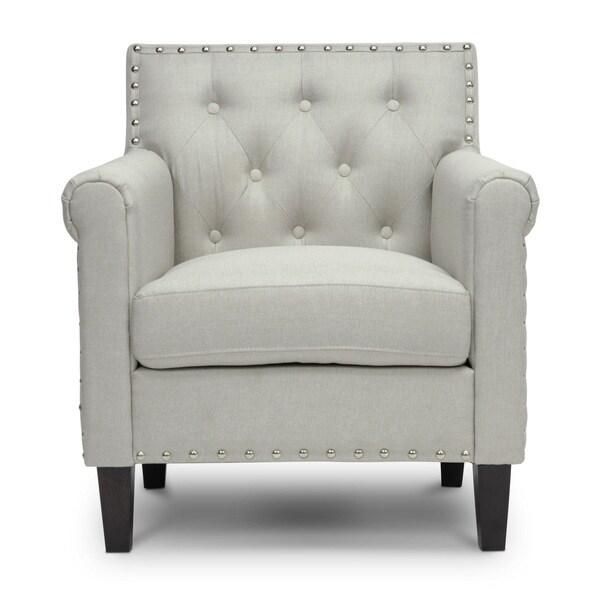 Baxton Studio 'Thalassa' Beige Linen-like Fabric Modern ...