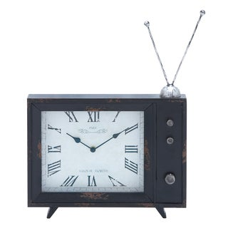 Antenna-TV Decor Piece Wooden Clock