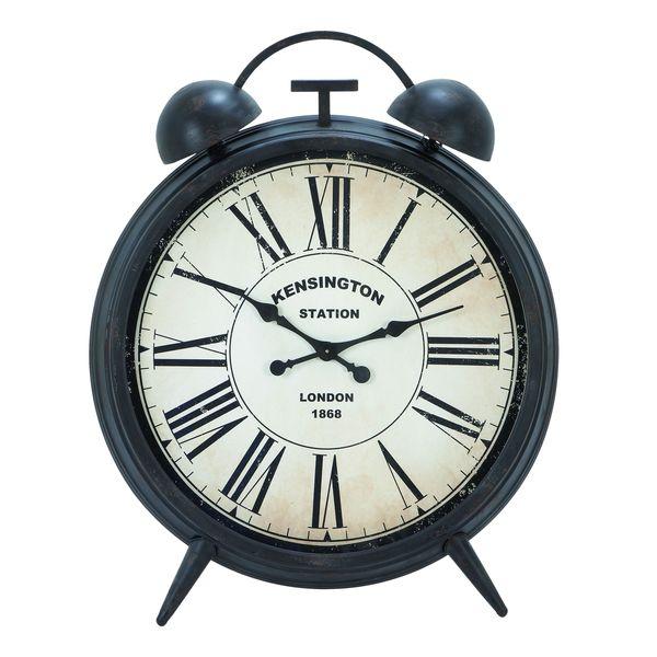Antique Finish Round Metal Alarm Clock