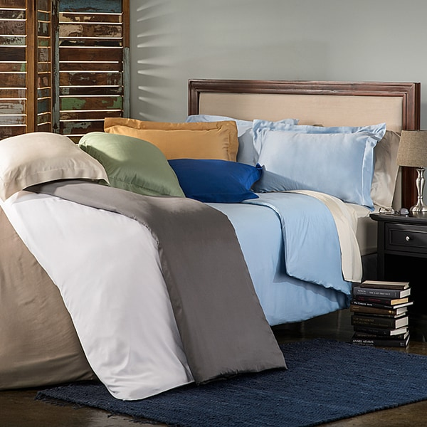 Luxor Treasures Bamboo Solid 3-piece Duvet Cover Set