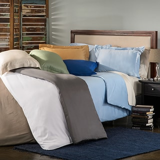 Rayon from Bamboo Solid 3-piece Duvet Cover Set