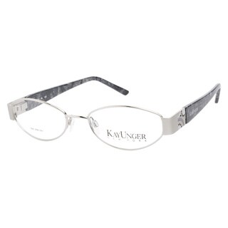 Kay Unger K107 Silver Prescription Eyeglasses