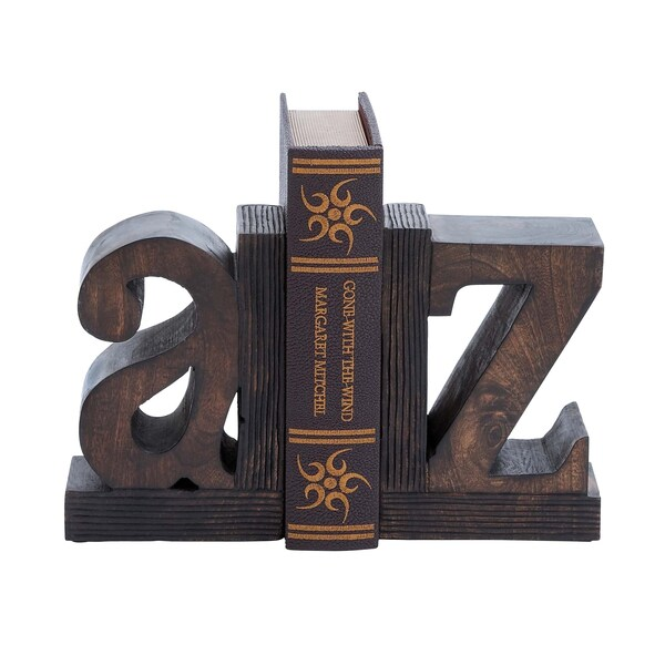 Sturdy Wood Book Ends (Set of 2)