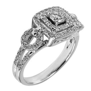 14k White Gold 3/4ct TDW Round Diamond Engagement Ring (G-H, SI1-SI2)
