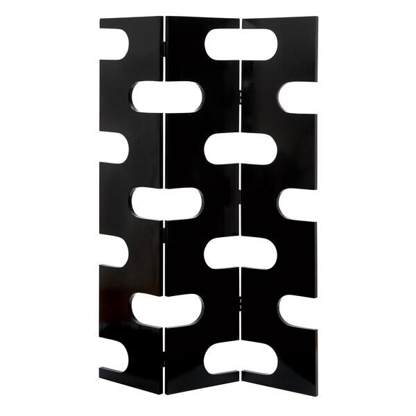 Room Dividing Wood 3-Panel Screen