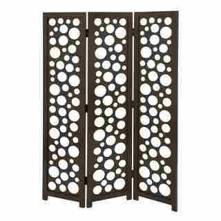 Wooden Three-panel Screen