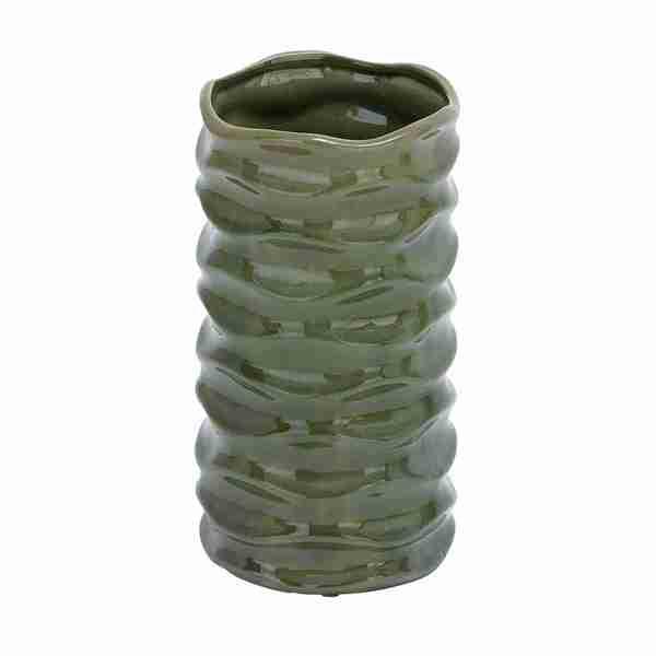 Green Glossy Ceramic Vase