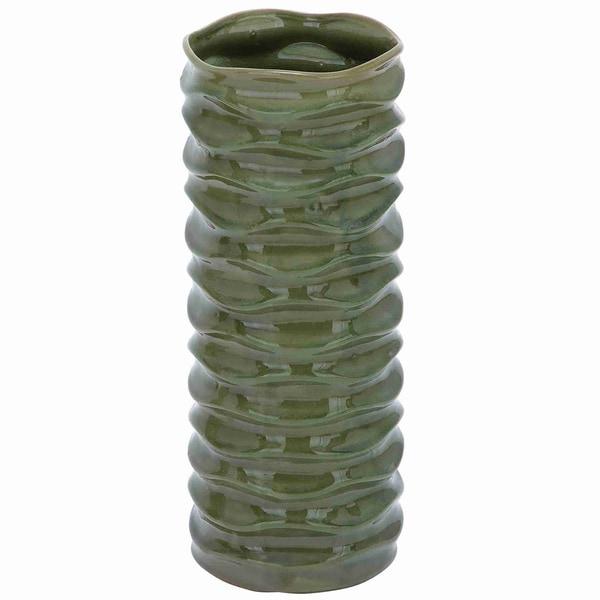 Glossy Green Ceramic Vase
