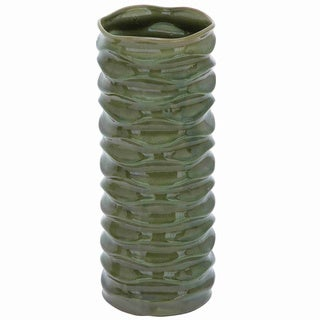 Glossy Green Ceramic Vase