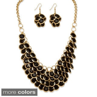 Lillith Star Lucite Bib Necklace and Earrings Set