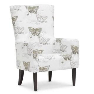 Baxton Studio Linneaus Beige Linen Accent Chair