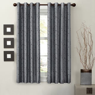 Jardin Embroidery Thermal Lined Energy Curtain Panel