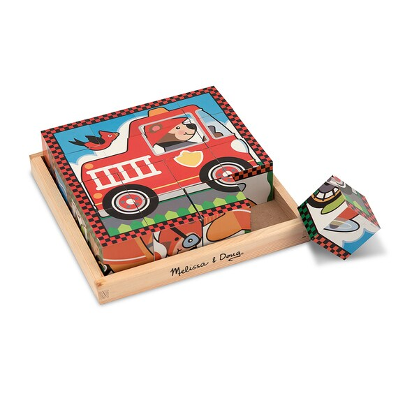 Melissa & Doug Vehicle Cube Puzzle