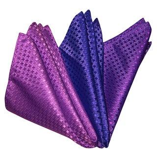 Dmitry Men's Bright Italian Silk Pocket Squares (Pack of 3)