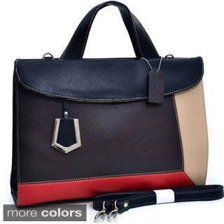 Dasein Colorblocked Briefcase Bag