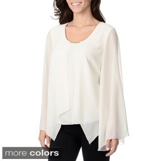 Chelsea & Theodore Women's Sheer Long Sleeve Top