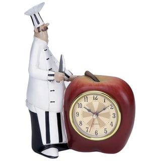 Polystone Chef Wall Clock with Attractive Colors