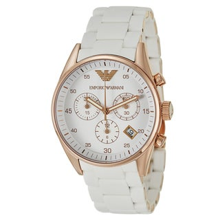 Emporio Armani Women's 'Sportivo' Rose Gold-Plated Stainless Steel Chronograph Watch