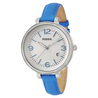 Fossil Women's 'Heather' Blue Stainless Steel Quartz Watch