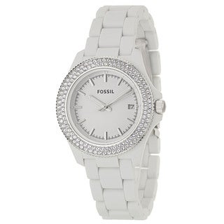 Fossil Women's 'Retro Traveler' Stainless Steel Japanese Quartz Watch