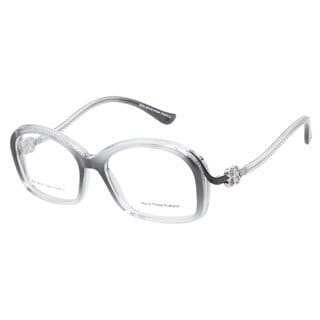 Balenciaga BAL0059 QFP Dark Grey Transparent Black Prescription Eyeglasses