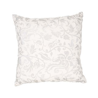 Handmade White Linen Throw Pillow