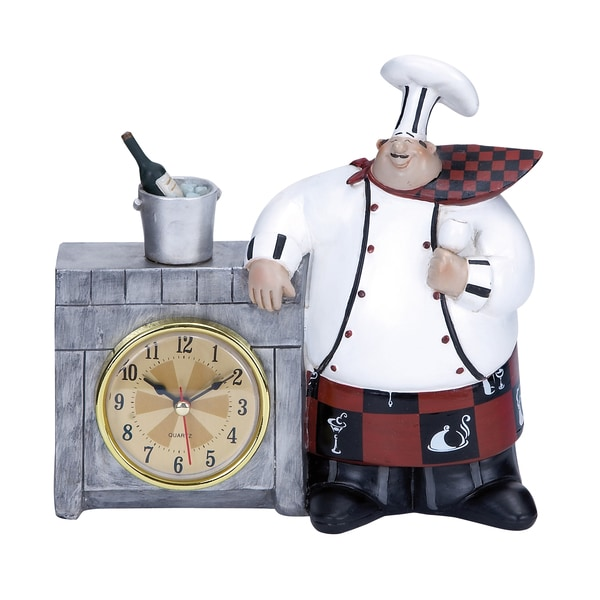 Chef Wall Clock Detailed with Bold Numerals