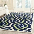 Safavieh Handmade Moroccan Chatham Contemporary Dark Blue Wool Rug (4' x 6')