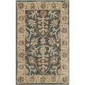 Safavieh Handmade Classic Blue/ Light Gold Wool Rug (2' x 3')