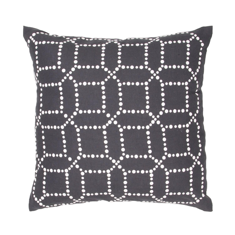 JRCPL Handmade Charcoal/ White Cotton/ Flax 18x18-inch Throw Pillow at Sears.com