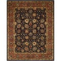 Safavieh Handmade Persian Legend Navy/ Rust Wool Rug (7'6 x 9'6)