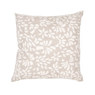 Handmade Tan/ White Linen 20x20-inch Pillow