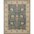 Safavieh Handmade Classic Blue/ Light Gold Wool Rug (8' x 10')