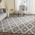 Safavieh Handmade Moroccan Chatham Contemporary Dark Gray/ Ivory Wool Rug (8' x 10')