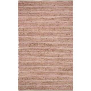 Safavieh Hand-woven Cape Cod Light Pink Jute Rug (3' x 5')