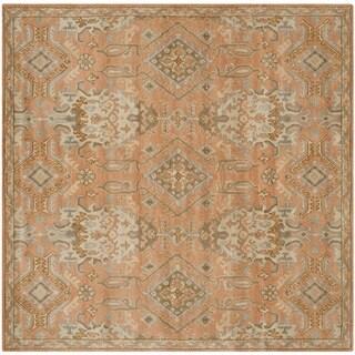 Safavieh Handmade Wyndham Terracotta Wool Rug (7' Square)