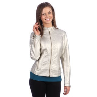 Live A Little Women's Metallic Silver Jacket