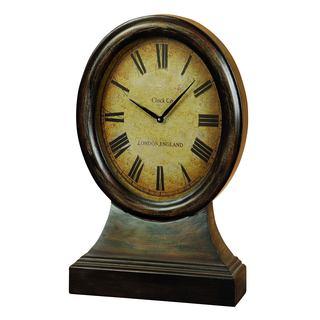 Wood Table Clock Decor