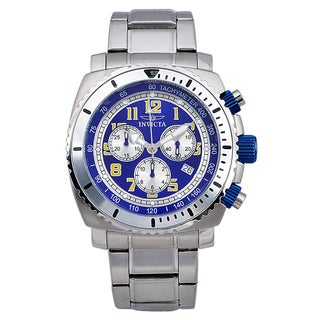 Invicta Men's Stainless Steel 'Specialty' Quartz Chronograph Watch