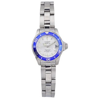 Invicta Women's Stainless Steel 'Pro Diver' Quartz Link Watch