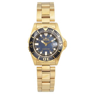 Invicta 'Pro Diver' Women's 2962 Gold-tone Stainless Steel Quartz Link Watch