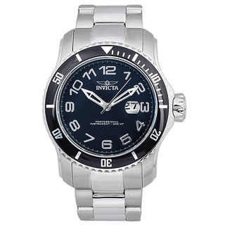 Invicta Men's Stainless Steel 'Pro Diver' Quartz Watch with Silvertone Strap