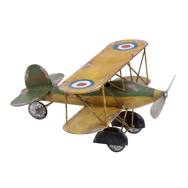 Metal Bi-Plane Decorative Accent